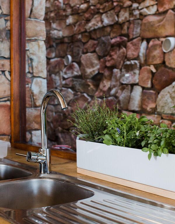 Herb box in kitchen