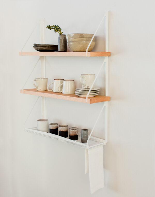 Palmy Kitchen shelf with Ceramics - side