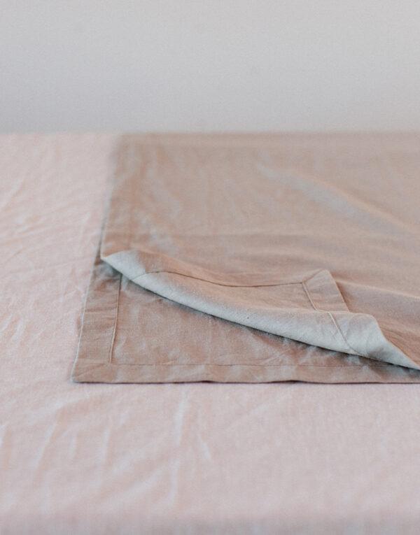 Palmy organic linen table runner